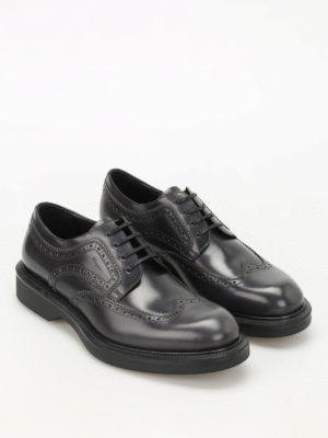 Salvatore Ferragamo: lace-ups shoes online - Donegal brushed leather brogues