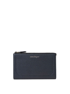 Salvatore Ferragamo: laptop bags & briefcases - Firenze grained leather briefcase
