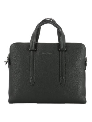 Salvatore Ferragamo: laptop bags & briefcases - Firenze leather briefcase