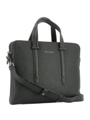 Salvatore Ferragamo: laptop bags & briefcases online - Firenze leather briefcase