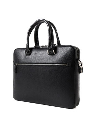Salvatore Ferragamo: laptop bags & briefcases online - Revival 3.0 croco handle briefcase