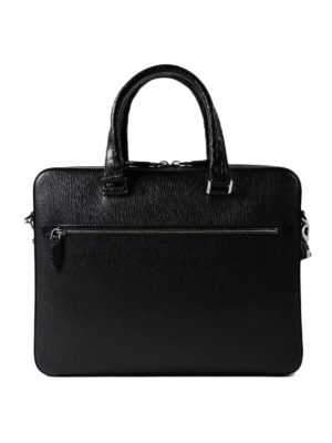 Salvatore Ferragamo: laptop bags & briefcases - Revival 3.0 croco handle briefcase