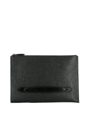 Salvatore Ferragamo: laptop bags & briefcases - Revival black leather briefcase