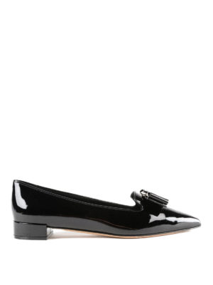 SALVATORE FERRAGAMO: Mocassini e slippers - Slipper Alice in vernice