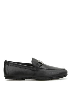Salvatore Ferragamo: Loafers & Slippers - Clamp detail leather loafers