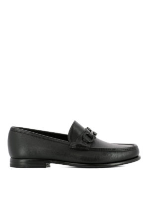 Salvatore Ferragamo: Loafers & Slippers - Crown leather loafers