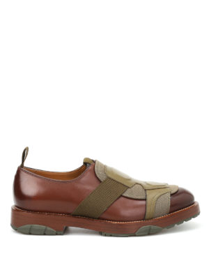 Salvatore Ferragamo: Loafers & Slippers - Faber leather slip on shoes