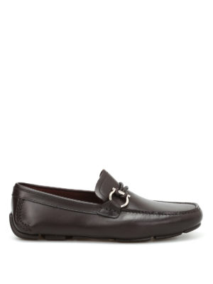 Salvatore Ferragamo: Loafers & Slippers - Front leather car shoes