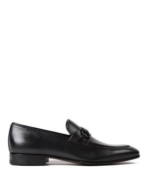 Salvatore Ferragamo: Loafers & Slippers - Gancini bit black leather loafers