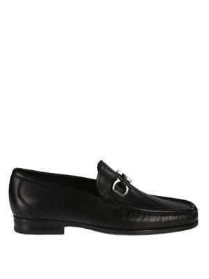 SALVATORE FERRAGAMO: Mocassini e slippers - Mocassini neri Gancini Bit