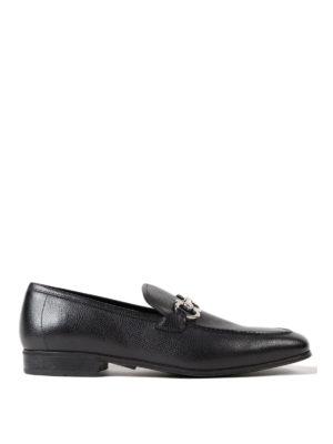 Salvatore Ferragamo: Loafers & Slippers - Gancini black leather loafers