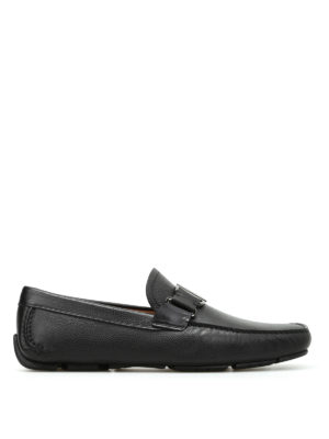 Salvatore Ferragamo: Loafers & Slippers - Grained leather loafers