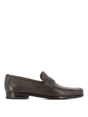 Salvatore Ferragamo: Loafers & Slippers - Grainy leather loafers
