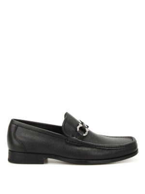 Salvatore Ferragamo: Loafers & Slippers - Grandioso hammered leather loafers