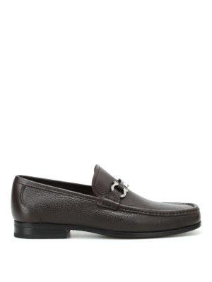 Salvatore Ferragamo: Loafers & Slippers - Grandioso pebble leather loafers