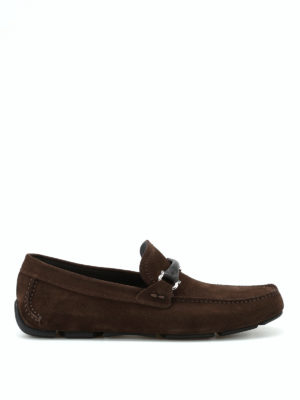 Salvatore Ferragamo: Loafers & Slippers - Granprix suede loafers