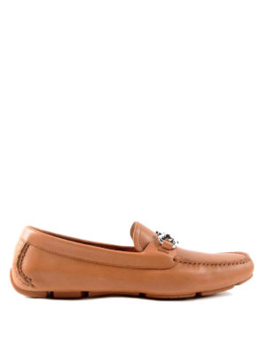 Salvatore Ferragamo: Loafers & Slippers - Leather driver loafers