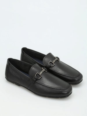 Salvatore Ferragamo: Loafers & Slippers online - Clamp detail leather loafers