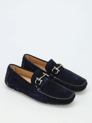 Salvatore Ferragamo: Loafers & Slippers online - Clamp detail suede loafers