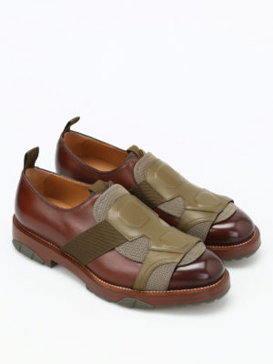 Salvatore Ferragamo: Loafers & Slippers online - Faber leather slip on shoes