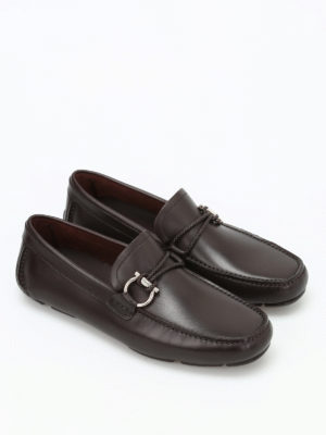 Salvatore Ferragamo: Loafers & Slippers online - Front leather car shoes