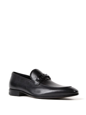 Salvatore Ferragamo: Loafers & Slippers online - Gancini bit black leather loafers