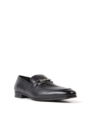Salvatore Ferragamo: Loafers & Slippers online - Gancini black leather loafers