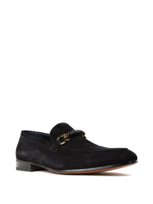 Salvatore Ferragamo: Loafers & Slippers online - Gancini woven detail suede loafers
