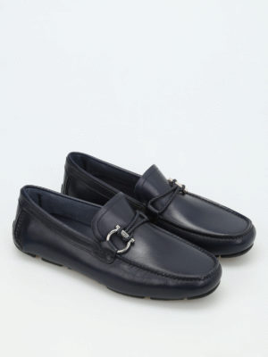 Salvatore Ferragamo: Loafers & Slippers online - Gancio detail leather loafers