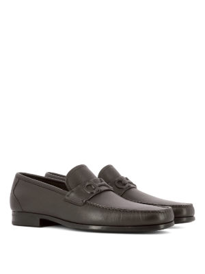 Salvatore Ferragamo: Loafers & Slippers online - Grainy leather loafers
