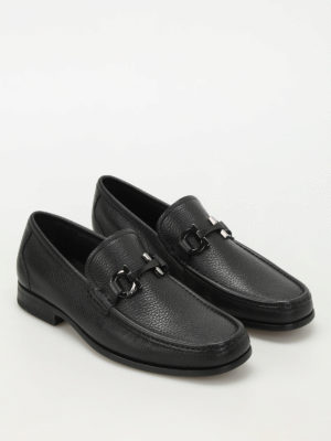 Salvatore Ferragamo: Loafers & Slippers online - Grandioso hammered leather loafers