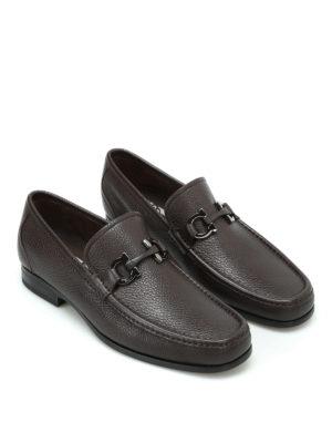 Salvatore Ferragamo: Loafers & Slippers online - Grandioso pebble leather loafers