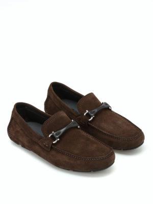 Salvatore Ferragamo: Loafers & Slippers online - Granprix suede loafers