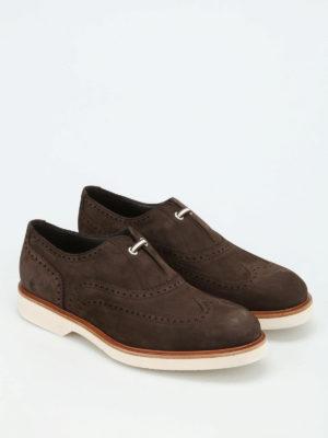 Salvatore Ferragamo: Loafers & Slippers online - Nubuck brogue slippers