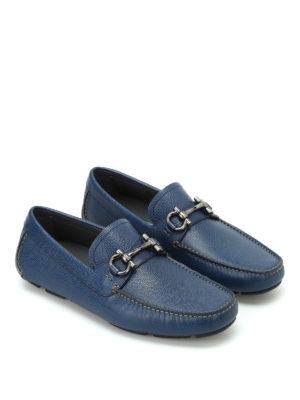 Salvatore Ferragamo: Loafers & Slippers online - Parigi blue leather loafers