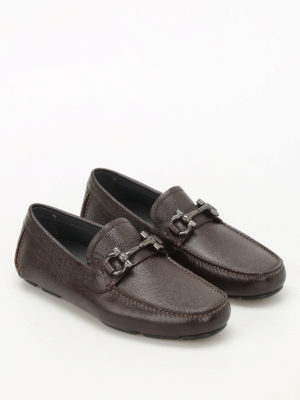 Salvatore Ferragamo: Loafers & Slippers online - Parigi lizard print leather loafers