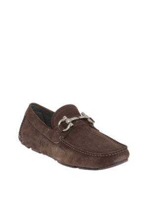 Salvatore Ferragamo: Loafers & Slippers online - Parigi suede driver loafers