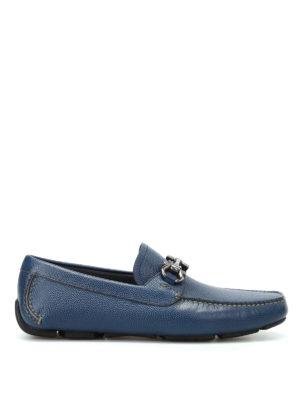 Salvatore Ferragamo: Loafers & Slippers - Parigi blue leather loafers