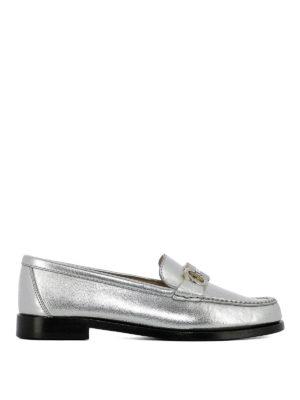 SALVATORE FERRAGAMO: Mocassini e slippers - Mocassini Rolo argento con Gancini