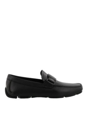 Salvatore Ferragamo: Loafers & Slippers - Sardegna leather driving shoes