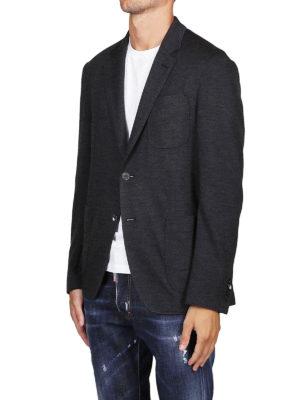 SALVATORE FERRAGAMO: giacche blazer online - Blazer destrutturato in jersey di lana