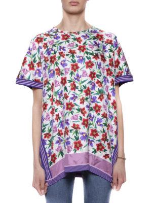 SALVATORE FERRAGAMO: bluse online - Blusa a fiori e righe