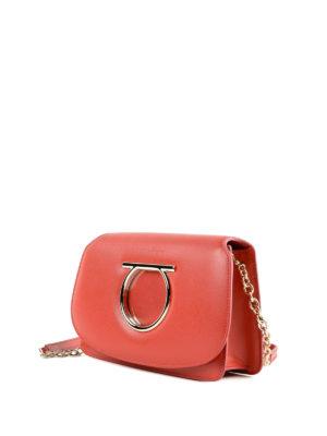 SALVATORE FERRAGAMO: borse a tracolla online - Mini borsa Gancini in pelle rossa