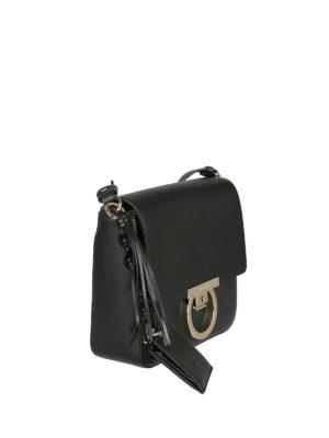 SALVATORE FERRAGAMO: borse a tracolla online - Borsa Lock in pelle con tracolla e nappa