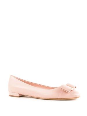 SALVATORE FERRAGAMO: ballerine online - Ballerina Varina in pelle rosa confetto
