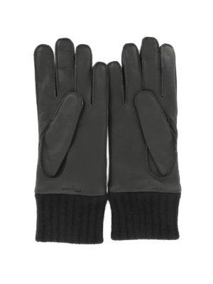 SALVATORE FERRAGAMO: guanti online - Guanti in pelle con bordo a coste