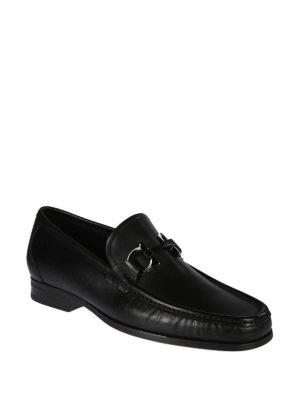 SALVATORE FERRAGAMO: Mocassini e slippers online - Mocassini neri Gancini Bit