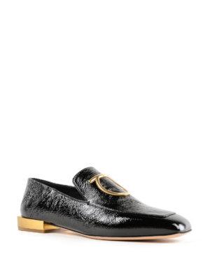 SALVATORE FERRAGAMO: Mocassini e slippers online - Mocassini neri Lana con tacco specchio