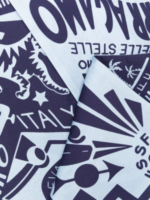 SALVATORE FERRAGAMO: sciarpe e foulard online - Viaggio print Silk bandeau