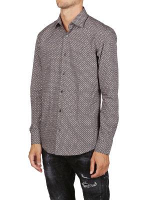 SALVATORE FERRAGAMO: camicie online - Camicia in popeline di cotone con stampa logo